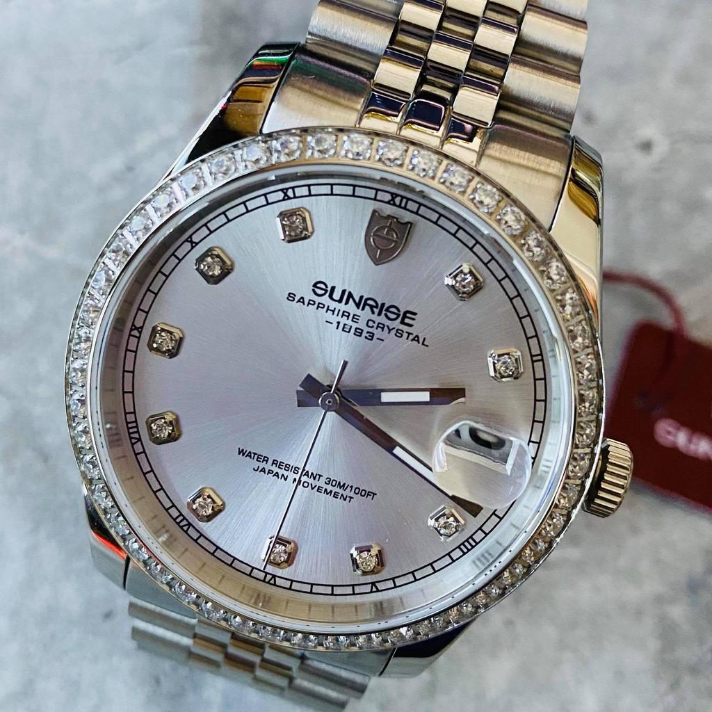 Đồng hồ Sunrise Nam chính hãng Nhật Bản 1255AA.D.T - kính saphire chống trầy - chống