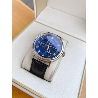 Đồng hồ nam Thomas Earnshaw Men's Beaufort Blue Dial Leather Watch dây da đen chính hãng .