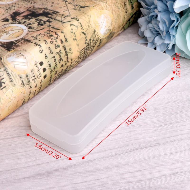 JLOVE Durable Plastic Transparent Sunglasses Case Clip On Glasses Box Eyewear Protector