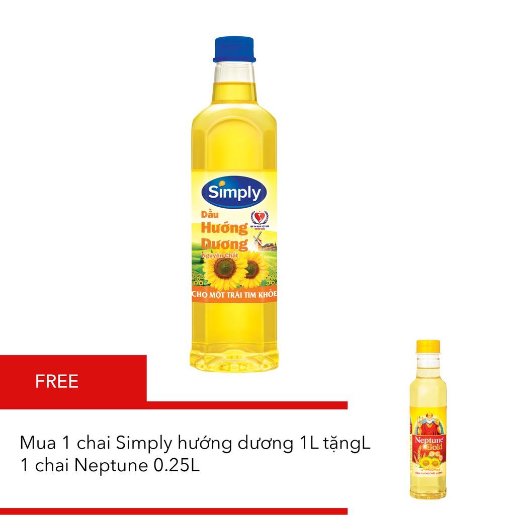 1 chai Simply hướng dương 1L tặng 1 chai Neptune 0.25L - 3378075 , 648669456 , 322_648669456 , 79300 , 1-chai-Simply-huong-duong-1L-tang-1-chai-Neptune-0.25L-322_648669456 , shopee.vn , 1 chai Simply hướng dương 1L tặng 1 chai Neptune 0.25L