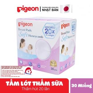 Tấm Lót Thấm Sữa PIGEON 30 Miếng Hộp CHÍNH HÃNG Thấm Hút Siêu Việt Với Cấu Trúc Lưới Tổ Ong Vượt Trội thumbnail