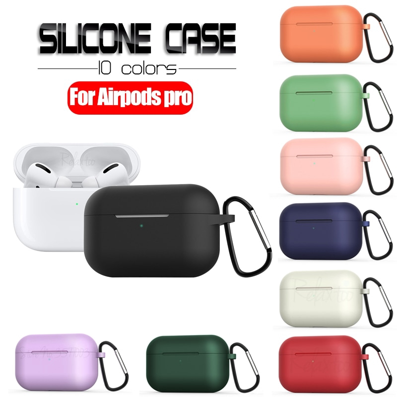 Silicone Airpods Pro Case for Bluetooth Headset tws Wireless Earphone Shockproof Protective Cover