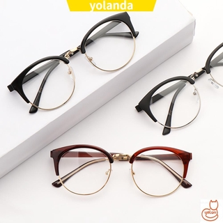 ☆YOLA☆ Men Women Retro Spectacles Frames Anti-fatigue Eyewear Optical Glasses Fashion Computer Clear Lens Vintage Eyeglasses/Multicolor