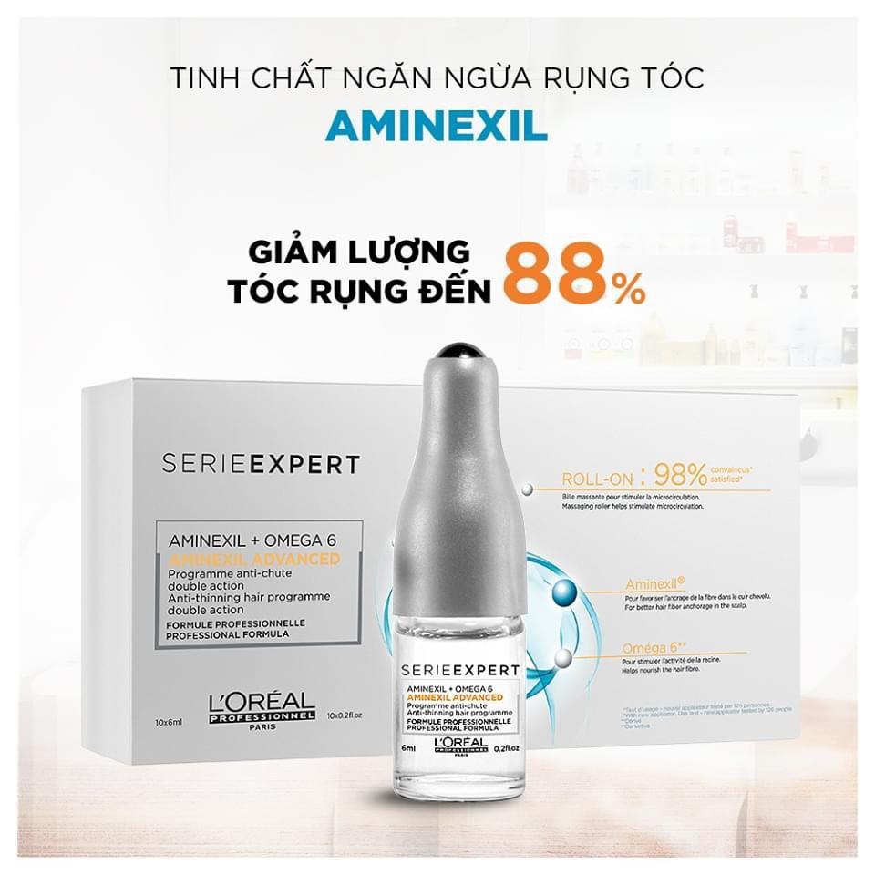 Tinh chất dưỡng tóc Loreal Serie Expert Aminexil Advanced – 10x6ml, ngăn ngừa rụng tóc và kích thích mọc tóc