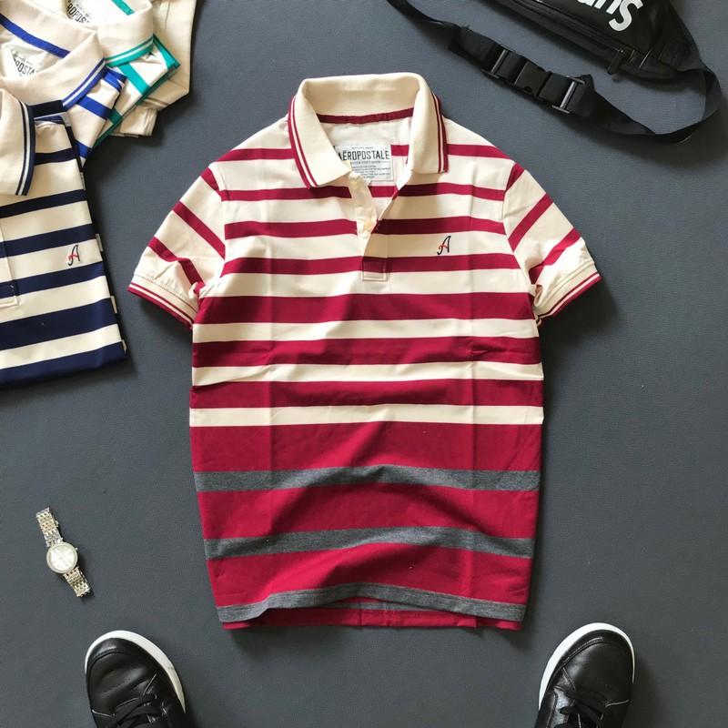 Áo phông nam có cổ thiết kê chữ A cao cấp thời trang nam Liyor - TDATCS3070