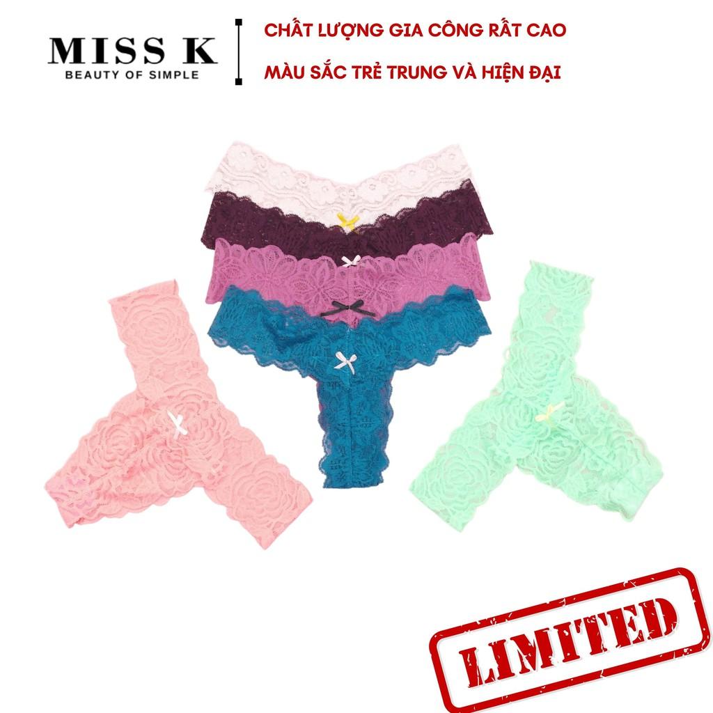 Quần lót ren lọt khe form T Chic Girl thương hiệu MK gợi cảm nhiều màu U028