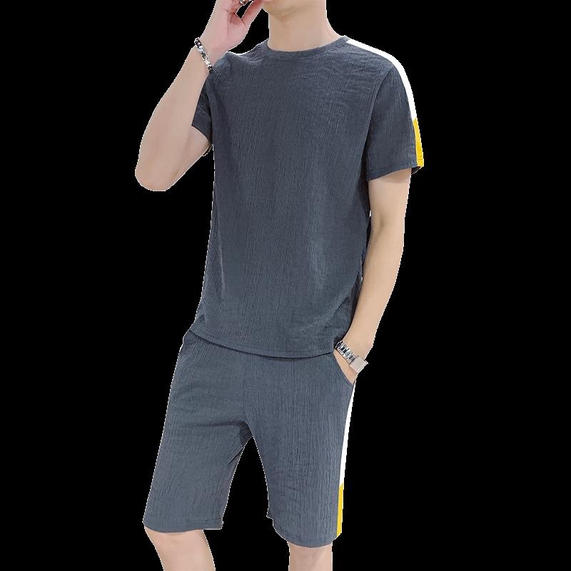 Bộ áo thun cổ tròn ngắn tay và quần short nam phong cách thời trang Hàn Quốc có nhiều size và màu sắc để lựa chọn - 13762661 , 2203043408 , 322_2203043408 , 369581 , Bo-ao-thun-co-tron-ngan-tay-va-quan-short-nam-phong-cach-thoi-trang-Han-Quoc-co-nhieu-size-va-mau-sac-de-lua-chon-322_2203043408 , shopee.vn , Bộ áo thun cổ tròn ngắn tay và quần short nam phong cách