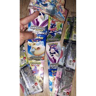 Sét 96 thẻ bài Pokemon_Bonds tiếng Anh bằng giấy óng ánh