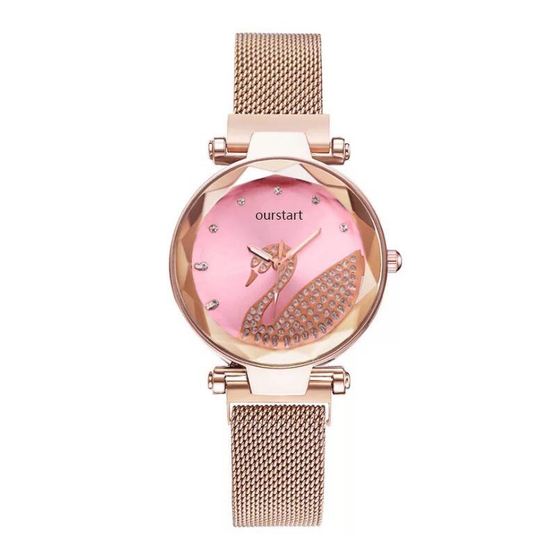 Đồng hồ nữ thời trang dây nam châm thiên nga lấp lánh siêu hot DH94