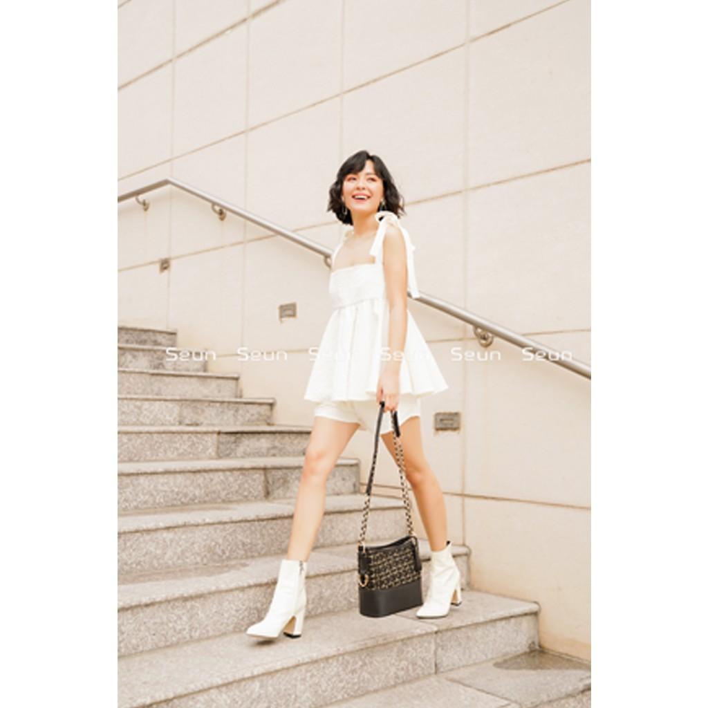 Túi Đeo Chéo Nữ Túi Đeo Vai Nữ Vải Tweed Hàn Quốc Cao Cấp Chanbag