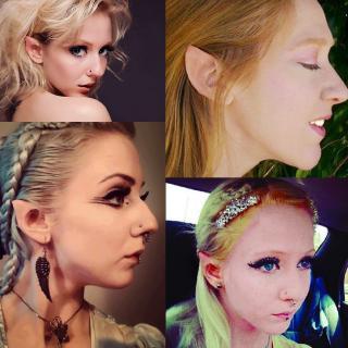 Elf Pixie Full Ears Fairy Hobbit Alien Fancy Dress Cartoon Costume Accessory