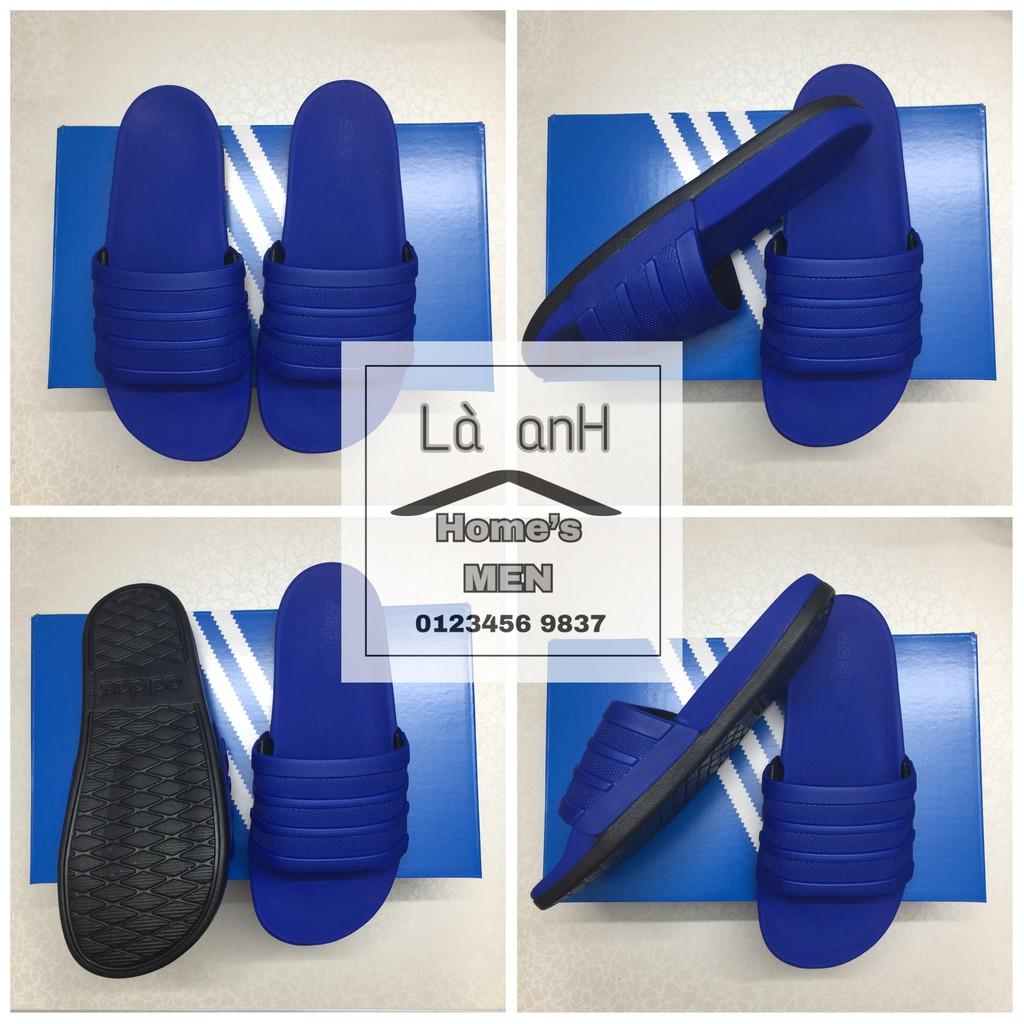 """[ Nhập Mã """" Ma0710 """" Giảm 10% ] Dép Adidas Adilette Cloudfoam Plus Mono Slides Đế Đen Quai Xanh Hàng"""