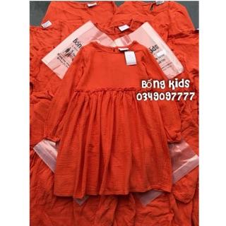 Váy Thu Bé Gái Đũi Cam MG