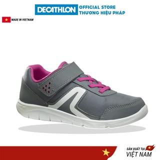 Giày đi bộ trẻ em NEWFEEL pw100 - xám hồng (cho bé gái) thumbnail