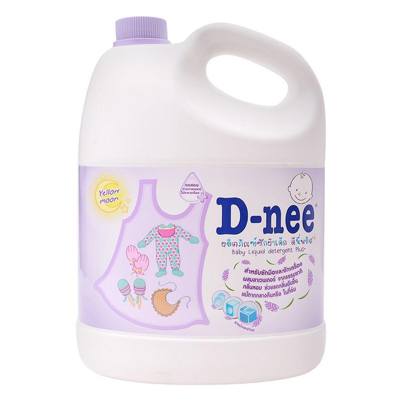 Nước giặt quần áo em bé Dnee 3000ml Xanh/Tím/Hồng/Trắng/Xanh lá