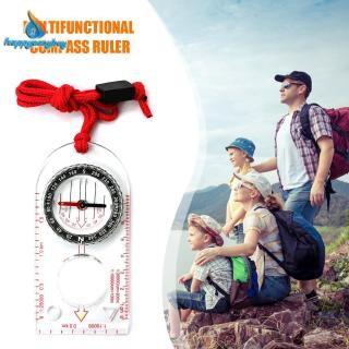 Ready Stock Multi-functional Outdoor Hiking Camping Travel Compass Feet Map Ruler Scale