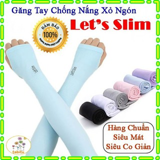 Găng tay chống nắng xỏ ngón Aqua-X Hàn Quốc - Bao tay đi phượt Letslim Siêu Mát chống tia UV GTN thumbnail