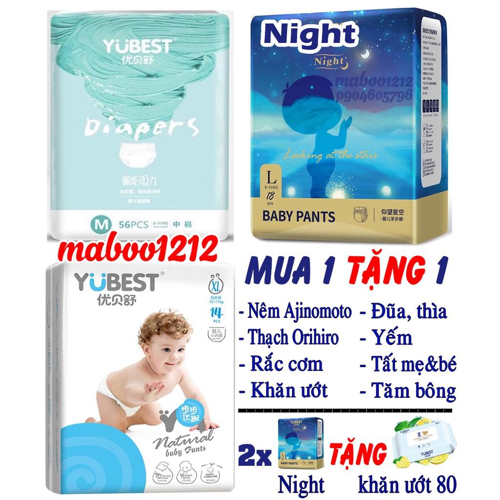 Bỉm YUBEST Angel / Gold / Night / Natural / Core nội địa Trung Quốc quần / dán S132, S90, M108, M84, L96, L78