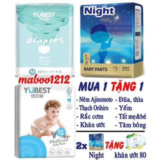 [TẶNG QUÀ] Tã Bỉm YUBEST Gold Night Angel Natural Core chính hãng quần dán S132, S90, M108, M84, L96, L78 thumbnail