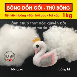 Bông gòn ruột gối ôm, làm mây tuyết 1kg HG1KG chịu lực tốt, đàn hồi cao, mềm mịn thumbnail