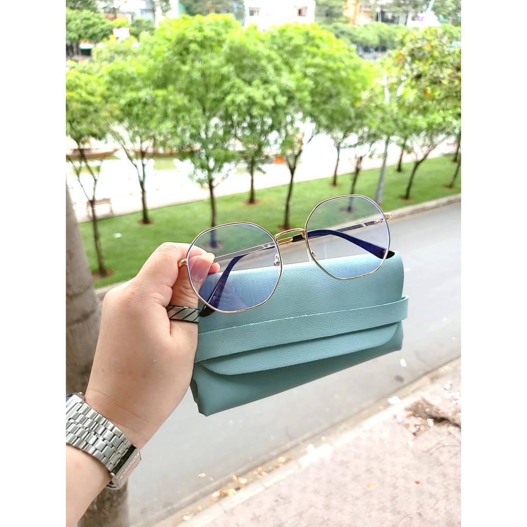 Gọng kính cận kim loại D11 giá tốt tặng kèm hộp đựng kính 👓 Freeship Xtra 👓  (vthm9)