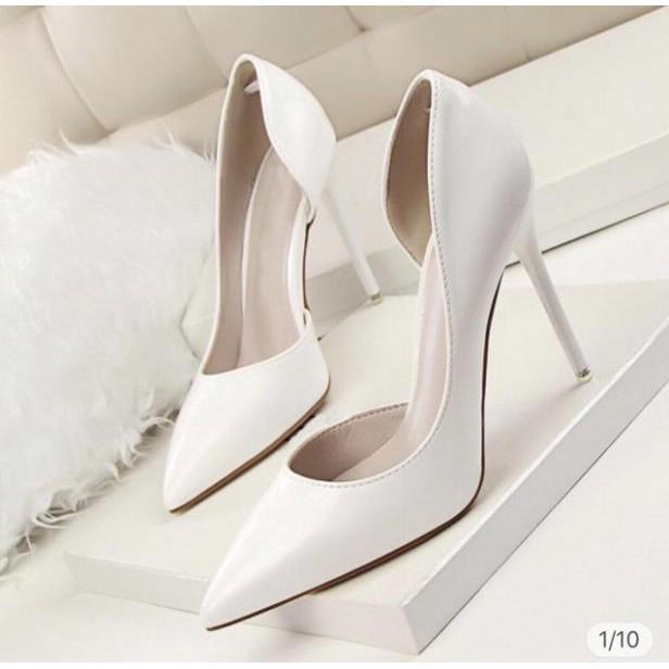 Giày Cao Gót Hở Eo 9P - VNXK Cao Cấp - Cực Xinh - Full Size 34-39