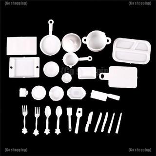 {Go shoppping}Bộ đồ chơi mô phỏng nhà bếp quả gồm 27 món tỷ lệ 1:12 dùng trang trí nhà búp bê