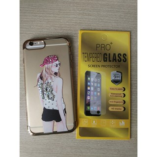 Ốp lưng đính đá iPhone 7 / 7plus kèm kính cường lực