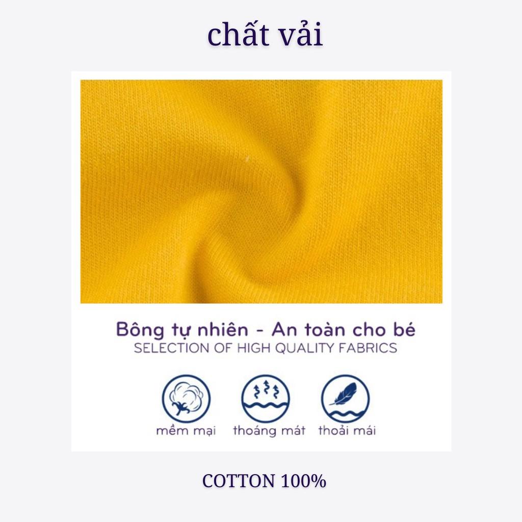 Đồ Bộ Bé Trai, Bé Gái Minky Mom Vải Cotton 100% Họa Tiết In Nhỏ Ngộ Nghĩnh, Bộ Cộc Tay Cho Bé Mặc Nhà Mùa Hè MKM2116