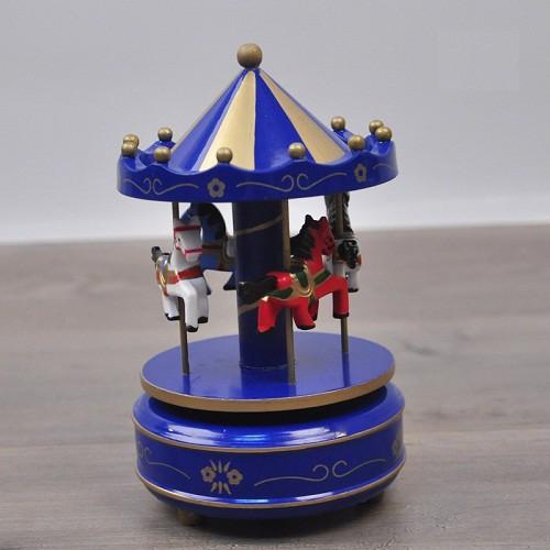 Hộp nhạc Carousel bằng gỗ giá sỉ