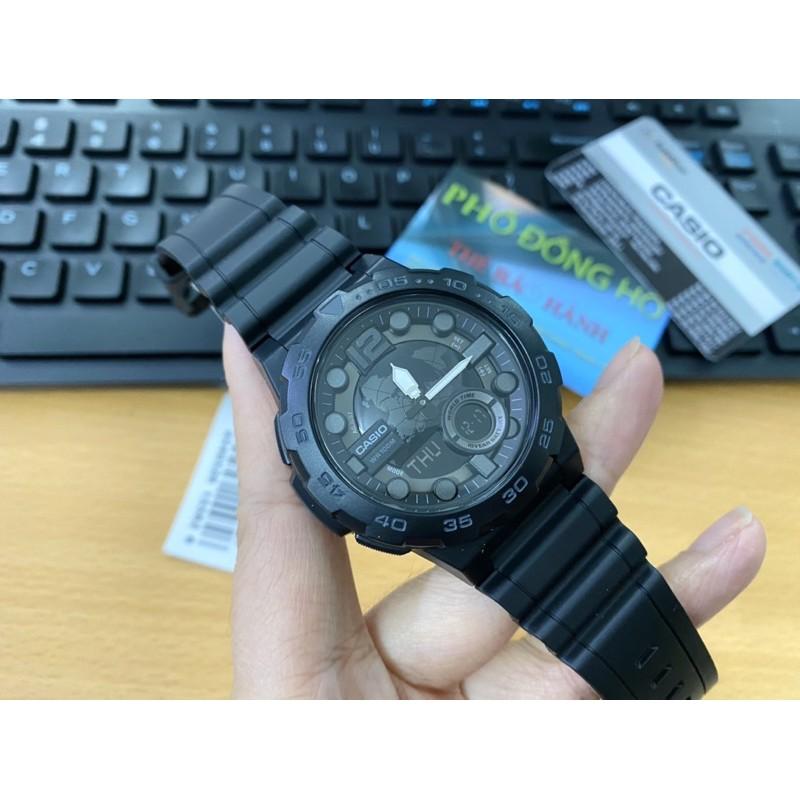 [Mã FARSBR153 giảm 15% đơn 150K] Đồng hồ nam dây nhựa Casio chính hãng Anh Khuê AEQ-100W-1BVDF