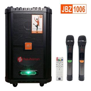 [Tặng Micro]Loa kéo Bluetooth không dây JBZ 1006 Bass 2,5 TẤC Model 2020- Tặng kèm 2 Micro