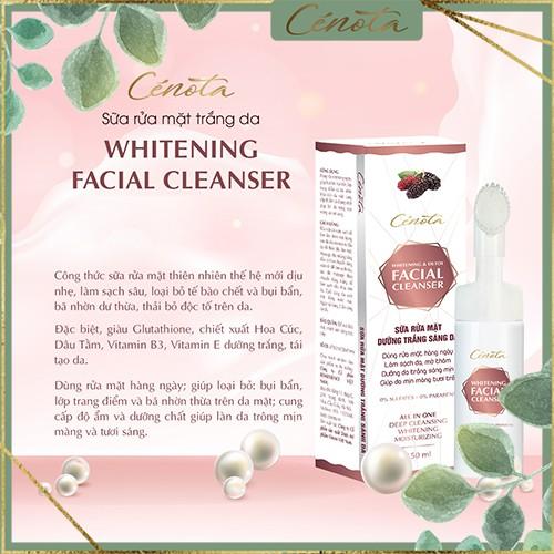 Sữa rửa mặt trắng da Cénota Whitening Facial Cleanser 150ml, sữa rửa mặt dưỡng trắng da - mã C03 buny