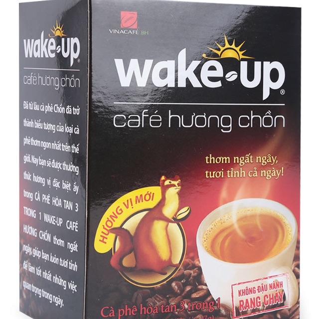 Cà Phê Hòa Tan Wake Up Hương Chồn 17G x 18 Gói - 2494801 , 1217650198 , 322_1217650198 , 55000 , Ca-Phe-Hoa-Tan-Wake-Up-Huong-Chon-17G-x-18-Goi-322_1217650198 , shopee.vn , Cà Phê Hòa Tan Wake Up Hương Chồn 17G x 18 Gói