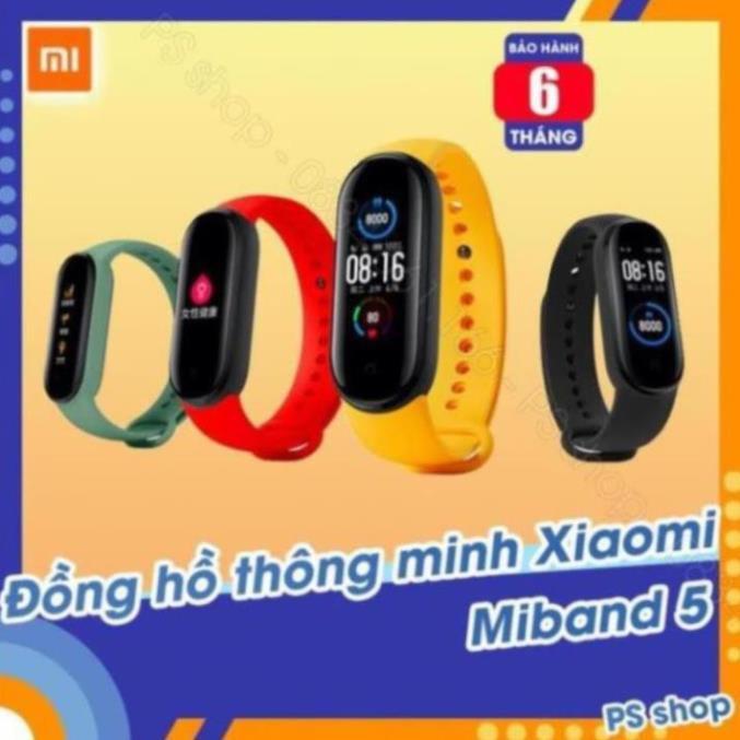 Vòng tay thông minh Xiaomi Mi Band 5 / Đồng hồ thông minh Miband 5 -  [ Bảo hành 6 tháng ] .GM