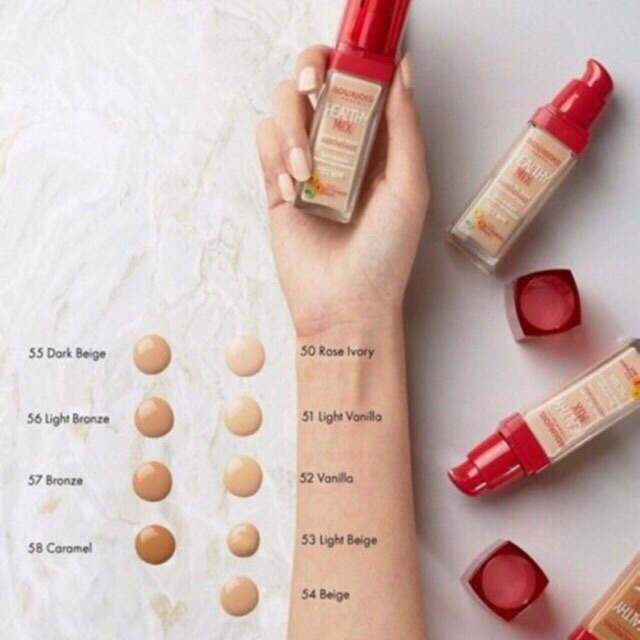 Follow 12/06 Kem nền Bourjois Healthy Mix Foundation 30ml