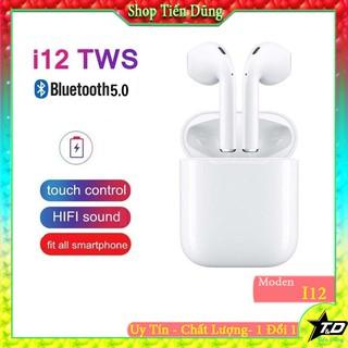 Tai nghe bluetooth i12 dòng tai nghe giá rẻ - Tai nghe có mic với tai nghe không dây