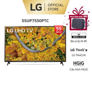 [Mã ELLGHOT giảm 10% đơn 200K] Smart Nanocell Tivi LG 4K 55 inch 55UP7550PTC - Model 2021 - Miễn phí lắp đặt thumbnail