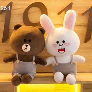 ( HÀNG MỚI ) Set 2 gấu brown và thỏ cony đang sale có 2 sz 35 và sz 50cm
