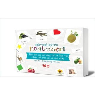 Hộp Thẻ Học Cụ Montessori - Phân Biệt Các Loài Động Vật Và Thực Vật - Nhận Biết Màu Sắc Và Hình Dạng