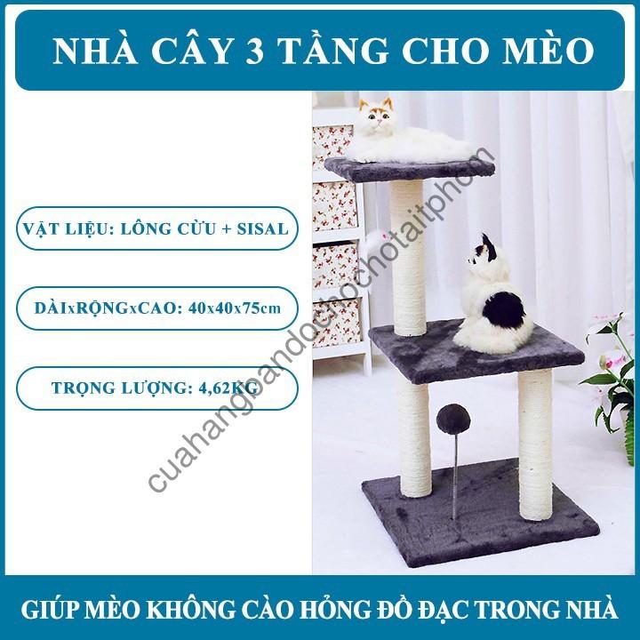 Nhà Cây cho Mèo Leo 3 Tầng - 14730706 , 2282787781 , 322_2282787781 , 1350000 , Nha-Cay-cho-Meo-Leo-3-Tang-322_2282787781 , shopee.vn , Nhà Cây cho Mèo Leo 3 Tầng