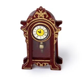 Mô hình đồng hồ gỗ cổ điển mini dùng trang trí nhà búp bê 1 12