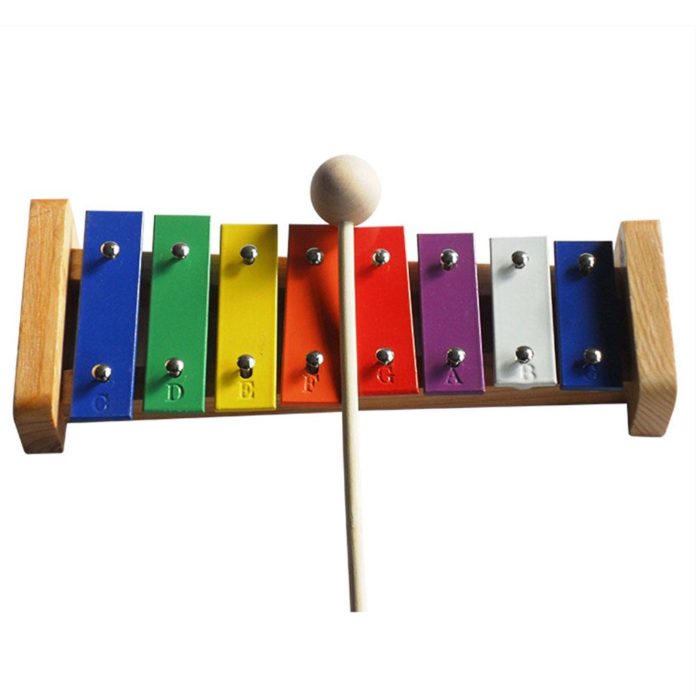 8 Tones With Mallet Percussion Instrument Baby Kids Wooden Aluminum Keys Musical Toy Xylophone Interest Cultivate Gift