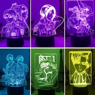 MIKASA Đèn Led Usb Để Bàn 7 Màu Tạo Hình Nhân Vật Anime 3d