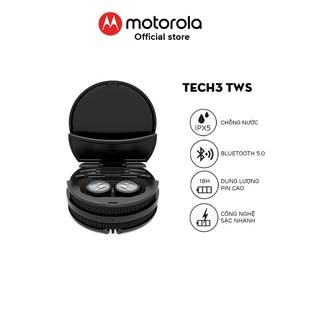 Tai nghe bluetooth Motorola không dây Tech3 TriX-Thiết kế năng động- Chuẩn chống nước IPX5