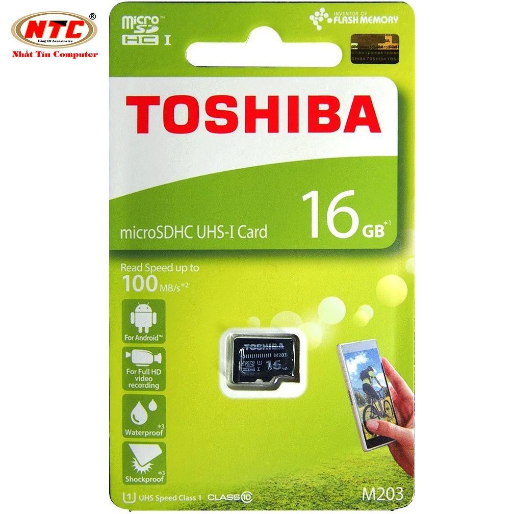 Thẻ nhớ MicroSDHC Toshiba M203 UHS-I U1 16GB 100MB/s - chuyên dành cho camera điện thoại (Đen) - 2555727 , 841576749 , 322_841576749 , 229000 , The-nho-MicroSDHC-Toshiba-M203-UHS-I-U1-16GB-100MB-s-chuyen-danh-cho-camera-dien-thoai-Den-322_841576749 , shopee.vn , Thẻ nhớ MicroSDHC Toshiba M203 UHS-I U1 16GB 100MB/s - chuyên dành cho camera điện t