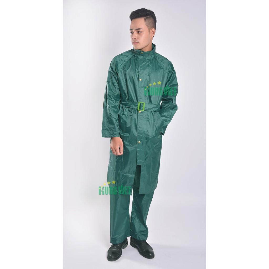 Áo mưa bộ măng tô quân đội Hưng Việt