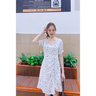 Đầm xòe ngắn tay cổ vuông tay bồng DEA0225 - 20Again thumbnail