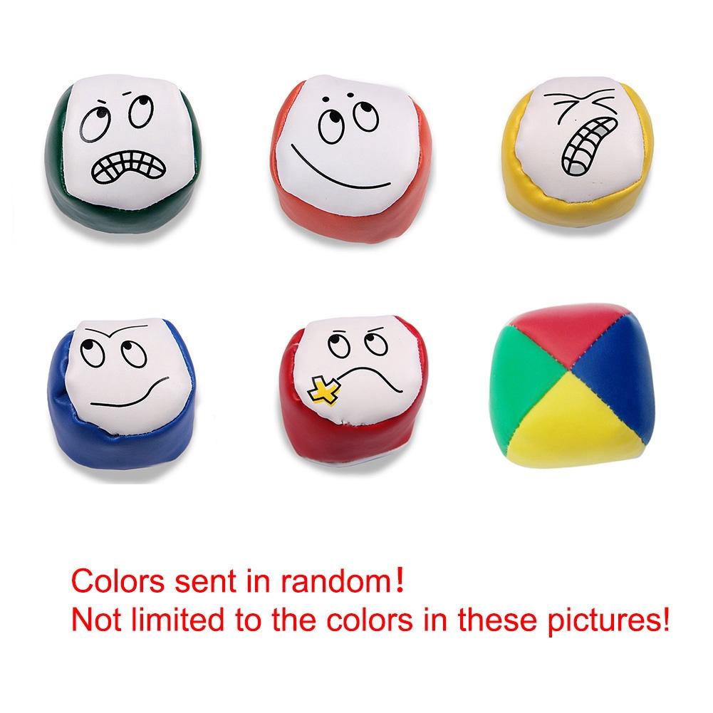 Children Outdoor Toys Kids PU Cartoon Rainbow Smiley Small Sandbag Sports Baby Classic Bean Bag 1