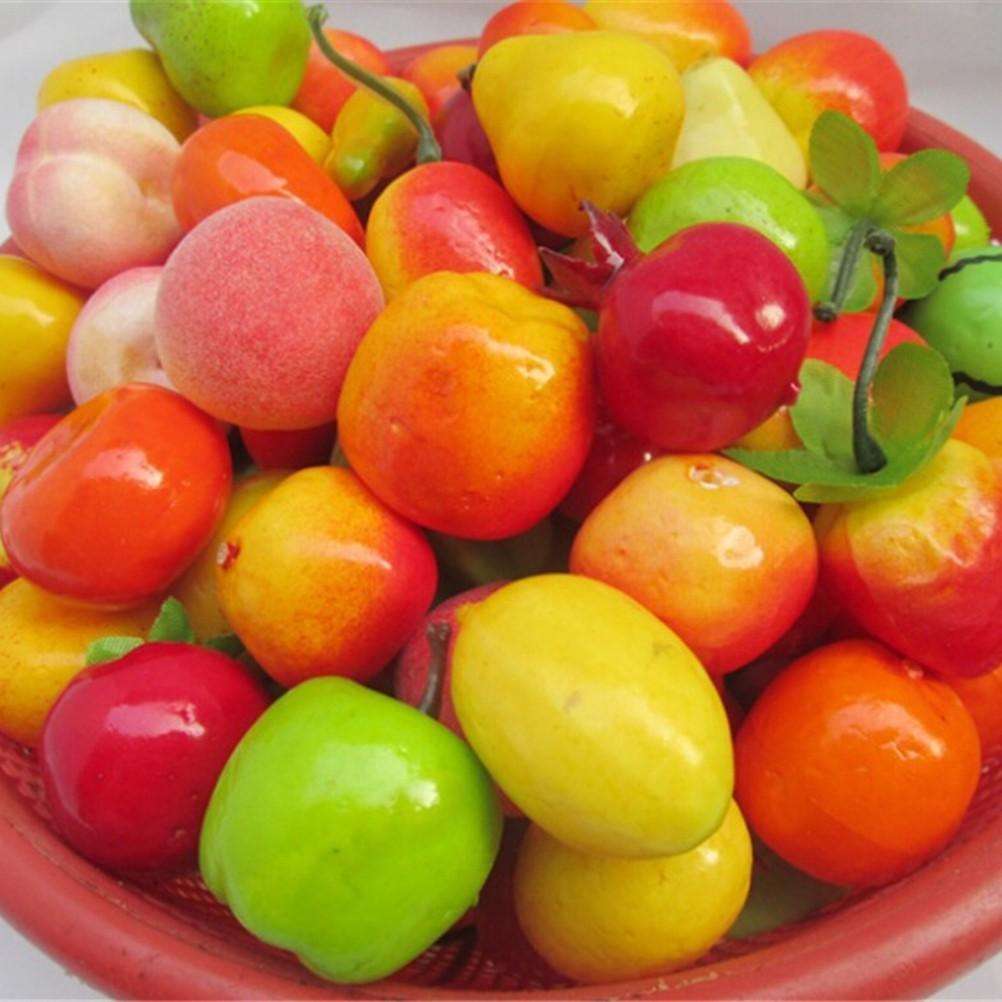 10Pcs Mini Fruits Vegetable Food 1:12 Scale Dollhouse Miniatures Accessories